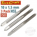 TAPS HSS 10X1.50MM ISO 3/PACK