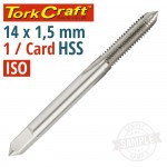 HSS TAP 14 X 1.50MM CARDED