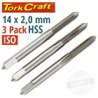 TAPS HSS 14X2.00MM ISO 3/PACK