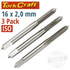 TAPS HSS 16X2.00MM ISO 3/PACK