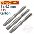 TAPS CARB.STEEL 4X0.7MM 3/PK