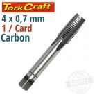 TAP CARB.STEEL 4X0.7MM 1/CARD