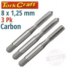 TAPS CARB.STEEL 8X1.25MM 3/PK