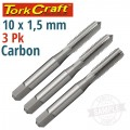 TAPS CARB.STEEL 10X1.50MM 3/PK