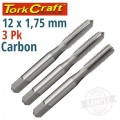 TAPS CARB.STEEL 12X1.75MM 3/PK