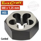 """DIE HSS HEX 8X1.25MM 1""""CARDED"""