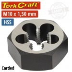 """DIE HSS HEX 10X1.50MM 1""""CARDED"""