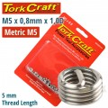 THREAD REPAIR KIT M5 X 0.8 X 1.0MM REPL. INSERTS FOR NR5005