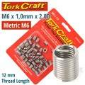 THREAD REPAIR KIT M6 X 1.0 X 2.0MM REPL. INSERTS FOR NR5006