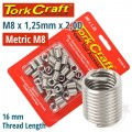 THREAD REPAIR KIT M8 X 1.25 X 2.0MM REPL. INSERTS FOR NR5008