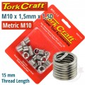 THREAD REPAIR KIT M10 X 1.5 X 1.5MM REPL. INSERTS FOR NR5010