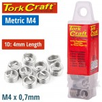 THREAD REPAIR KIT M4 X 1D REPLACEMENT INSERTS 10PCE