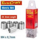 THREAD REPAIR KIT M4 X 2D REPLACEMENT INSERTS 10PCE