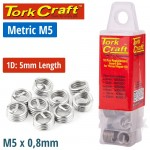 THREAD REPAIR KIT M5 X 1D REPLACEMENT INSERTS 10PCE