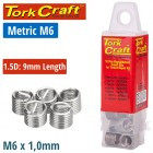 THREAD REPAIR KIT M6 X 1.5D REPLACEMENT INSERTS 10PCE