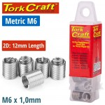 THREAD REPAIR KIT M6 X 2D REPLACEMENT INSERTS 10PCE
