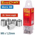 THREAD REPAIR KIT M8 X 2D REPLACEMENT INSERTS 10PCE