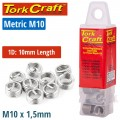 THREAD REPAIR KIT M10 X 1D REPLACEMENT INSERTS 5PCE
