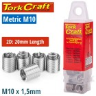 THREAD REPAIR KIT M10 X 2D REPLACEMENT INSERTS 5PCE