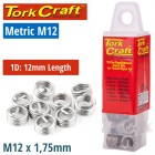 THREAD REPAIR KIT M12 X 1D REPLACEMENT INSERTS 5PCE