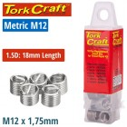 THREAD REPAIR KIT M12 X 1.5D REPLACEMENT INSERTS 5PCE