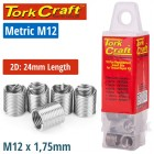 THREAD REPAIR KIT M12 X 2.0D REPLACEMENT INSERTS 5PCE