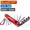 12PC FOLDING SOCKET & SCREWDRIVING SET