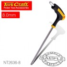 BALL POINT T HANDLE HEX ALLEN KEY 8.0MM X 200MM