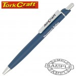AIRCRAFT BALLPOINT PEN BLUE AND WHITE