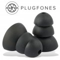 REPLACEMENT SILICONE EAR BUD BLACK 10 PACK (5 PAIRS)