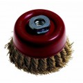 WIRE CUP BRUSH KNOTTED 65MM14M