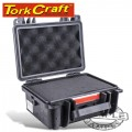 HARD CASE 225X185X115MM OD WITH FOAM BLACK WATER & DUST PROOF (19208)