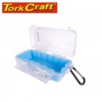 MICRO CASE BLUE 169 X 123 X 50MM SIL./LINER WITH CARABIN.CLIP