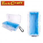 MICRO CASE BLUE 198 X 100 X 60MM SIL./LINER WITH CARABIN.CLIP