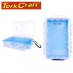 MICRO CASE BLUE 198 X 130 X 53MM SIL./LINER WITH CARABIN.CLIP