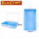 MICRO CASE BLUE 248 X 160 X 65MM SIL./LINER WITH CARABIN.CLIP