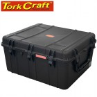 PLASTIC CASE 847 X 722 X 432MM OD WHEELS WITH FOAM BLACK CASE WATER &