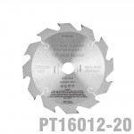 SAW BLADE TCT 160X2.2X20X12T WOOD PROF. PRO-TECH FES. TS55 PW12