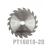 SAW BLADE TCT 160X2.2X20X18T WOOD PROF. PRO-TECH FES. TS55 PW1
