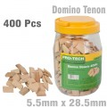 DOMINO TENON 5.5 X 28.5MM 400PC JAR BEECH WOOD