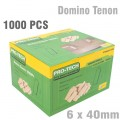 DOMINO TENON 6X40MM 1000PC COLOUR BOX BEECH WOOD