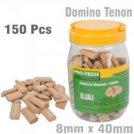DOMINO TENON 8X40MM 150PC JAR BEECH WOOD