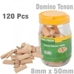 DOMINO TENON 8X50MM 120PC JAR BEECH WOOD