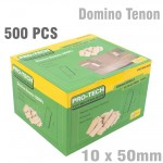 DOMINO TENON 10X50MM 500PC PER COLOUR BOX BEECH WOOD