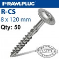 TIMBER CONSTRUCTION SCREW 8.0 X 120MM X 50-BOX TORX T40