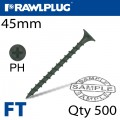 DRYWALL SCREW COARSE THREAD 3.5MMX45MM X500-BOX