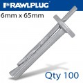 CEILING WEDGE ANCHOR 6X65MM X100 -BOX