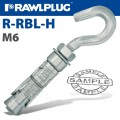 HOOK BOLT M6X83MM X25 -BOX