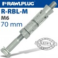 RAWLBOLT M6X70X25MM X50-BOX (12MM HOLE)