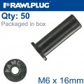 RAWLNUT M6X16MM X50-BOX